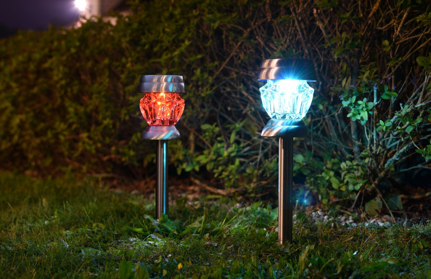 Real glass solar lights