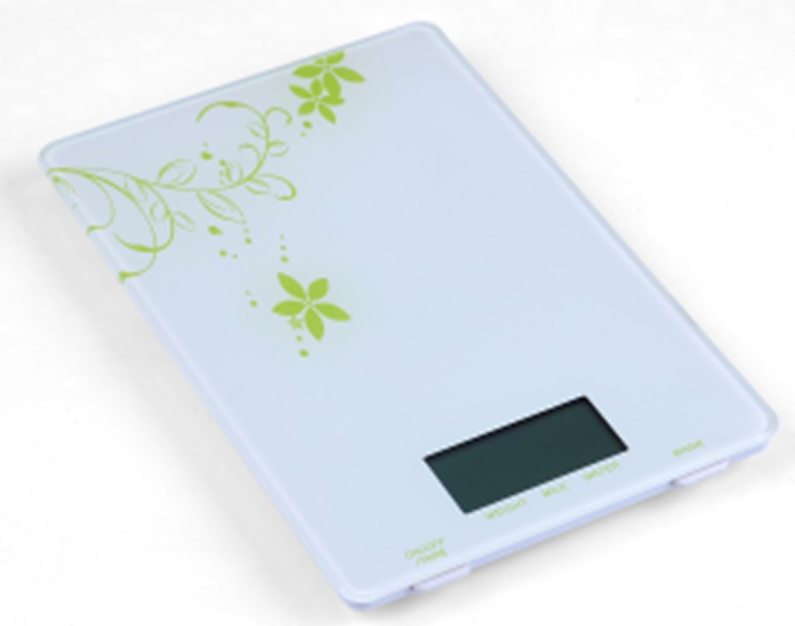 Electronic kitchen scale glass design