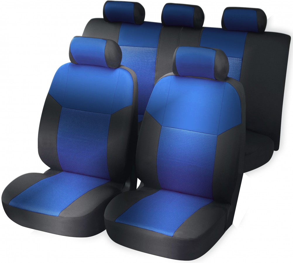 Seat cover blue complete set