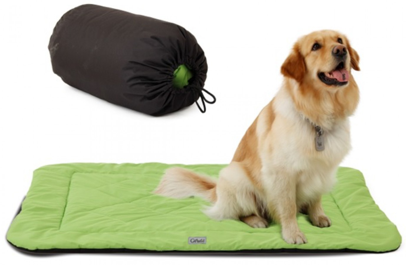 Outdoor dog cover green with sack