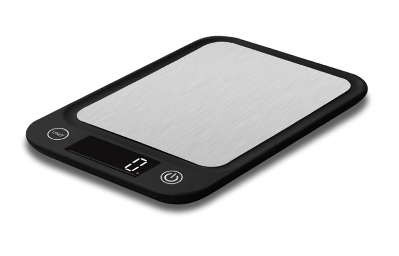 Digital kitchen scale stainless steel black