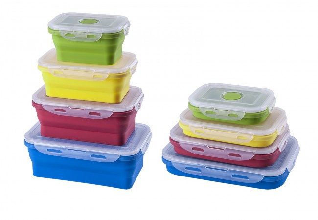 Colorful plastic container
